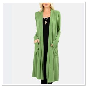 Kiwi Duster Length Cardigan